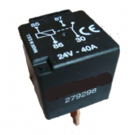 Relay 24vdc 40 Amp switching current 4 pin.     <br>ALT/RY279298-09